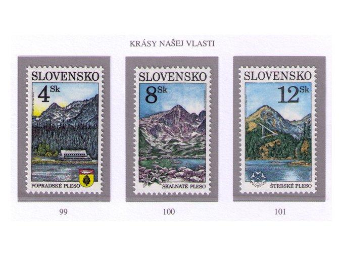 SR 1996 / 099-101 / Krásy našej vlasti