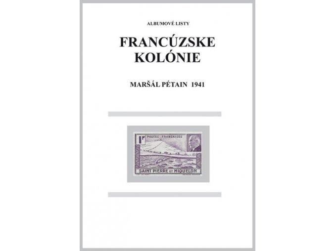 Albumové listy Franc kol 1941 Maršál Pétain