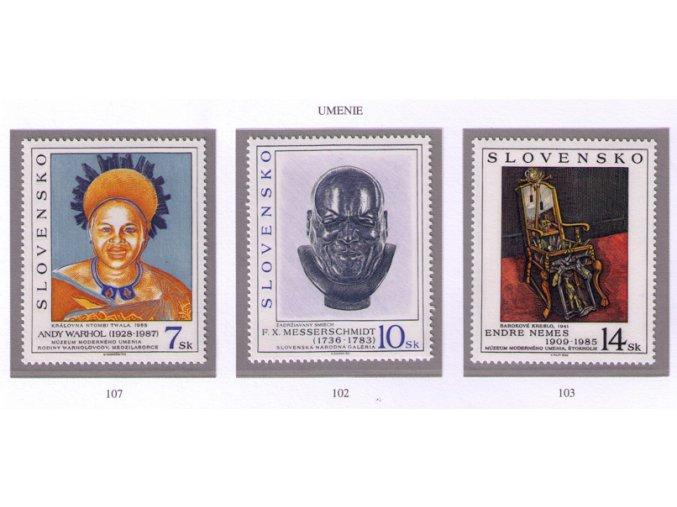 SR 1996 / 102-103 + 107 / Umenie