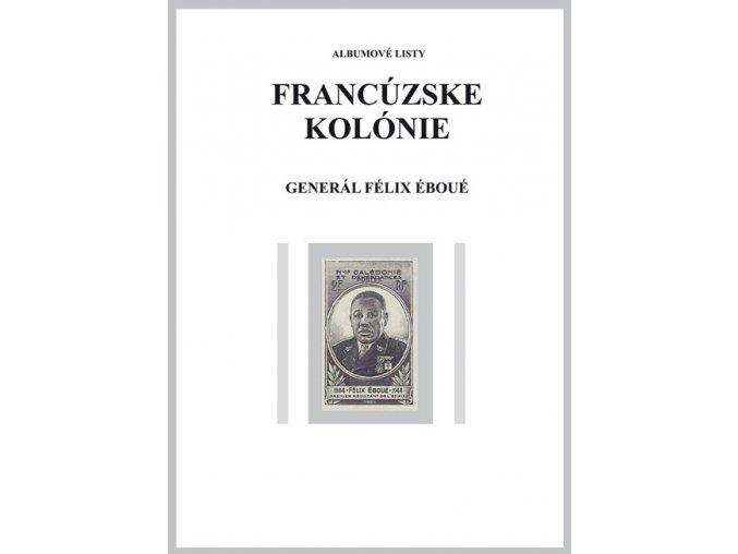 Albumové listy Franc kol 1945 Generál Félix Éboué