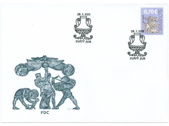 SR 2011 / 490 / Kultúrne dedičstvo Slovenska FDC