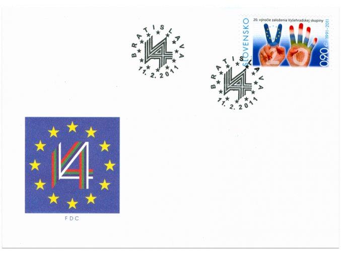SR 2011 / 491 / 20. výročie založenia V4 FDC