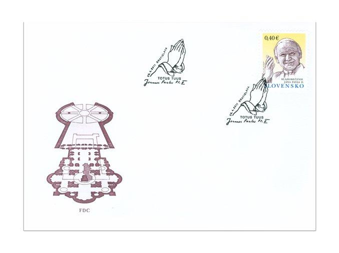 SR 2011 / 496 / Blahorečenie Jána Pavla II. FDC