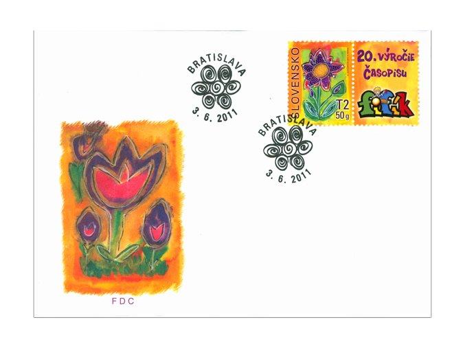 SR 2011 / 498 / Detská známka FDC