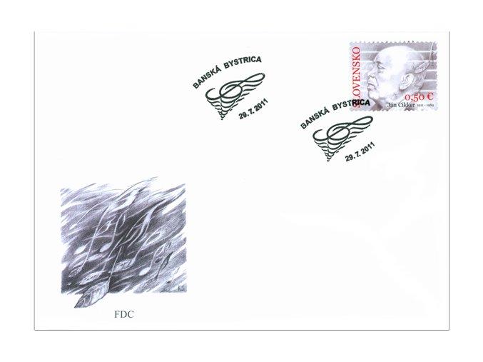 SR 2011 / 502 / Osobnosti - Ján Ciker FDC