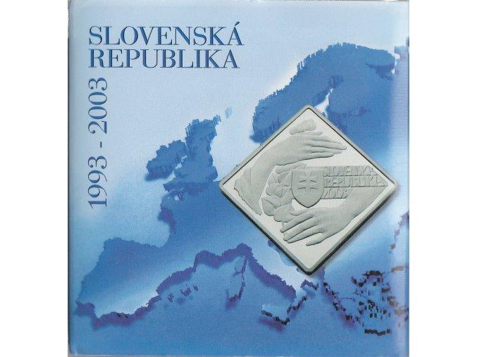 Ag Slovensko 2003 / MPSK 38 / 10. výročie vzniku SR  1000 Sk / Proof