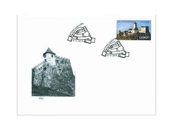 SR 2012 / 526 / Ľubovniansky hrad / FDC