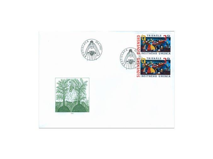 SR 1997 / 122 / Trienále insitného umenia FDC