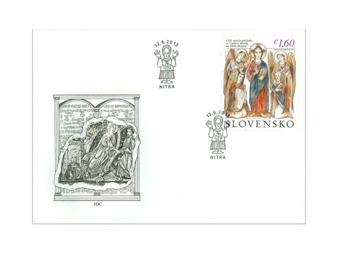 SR 2013 / 542 / 1150. výročie príchodu Cyrila a Metoda na Veľkú Moravu FDC