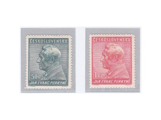 ČSR I 1937 / 322-323 / 150. výročie narodenia J. E. Purkyně  **