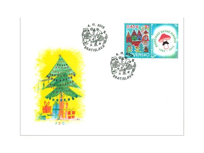 SR 2013 / 550 / Vianočná pošta FDC
