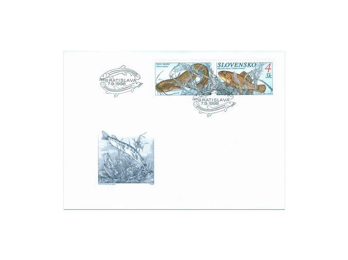 SR 1998 / 157-159 H / Ochrana prírody - ryby FDC (3)