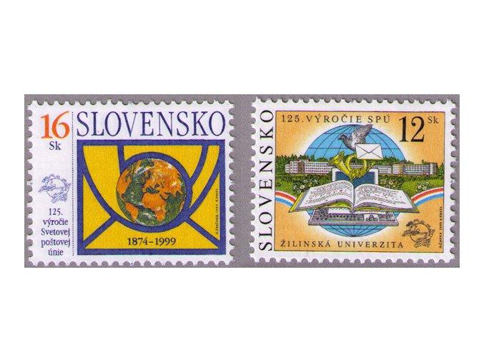 SR 1999 / 184-185 / 125. výročie Svetovej poštovej únie