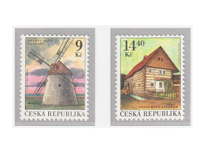 ČR 306-307 Technické pamiatky - mlyny