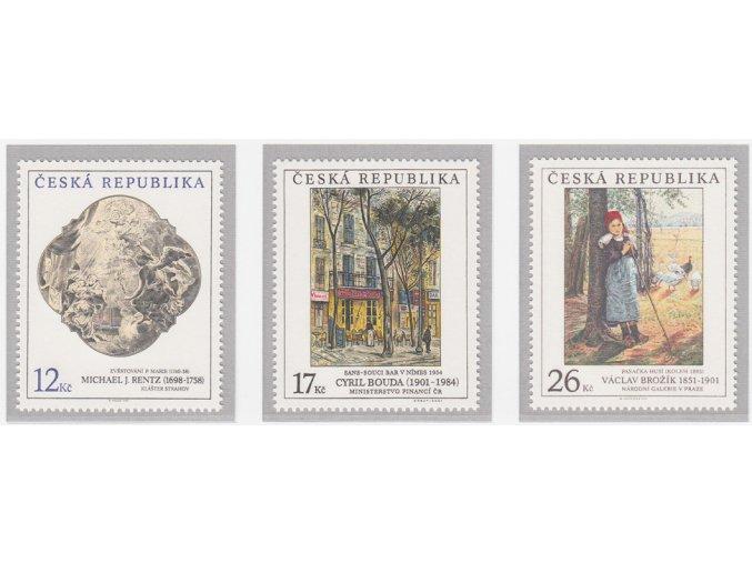 ČR 309-311 Umelecké diela na známkach