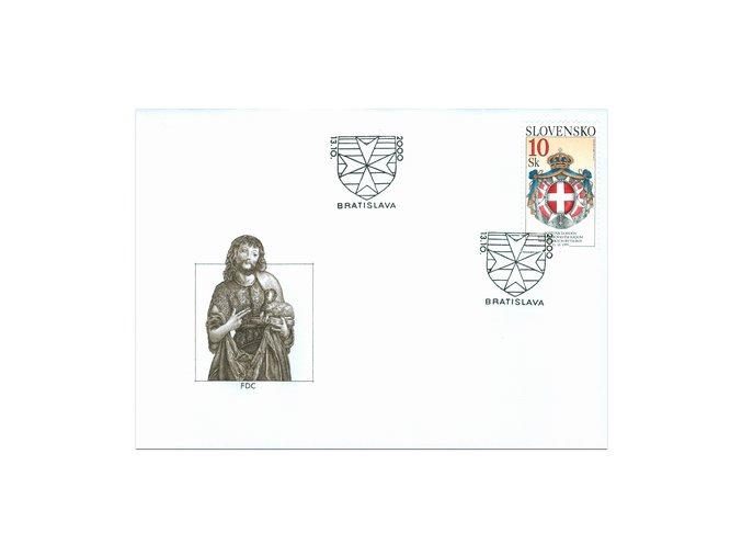 SR 2000 / 220 / Poštová dohoda so Zvrchovaným rádom maltézskych rytierov FDC