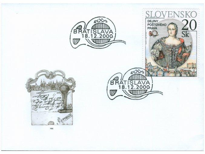 SR 2000 / 224 / Dejiny poštového práva FDC