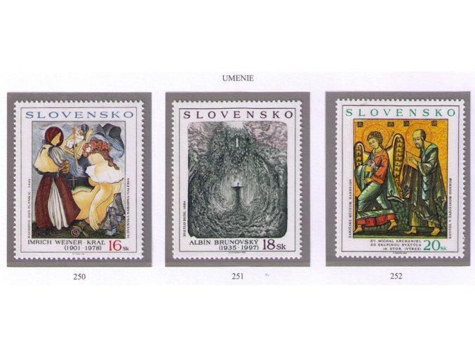 SR 2001 / 250-252 / Umenie