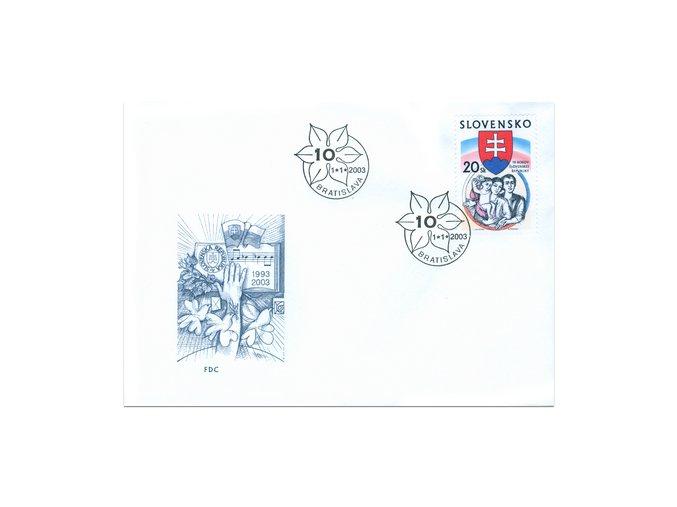 SR 2003 / 284 / 10 rokov Slovenskej republiky FDC