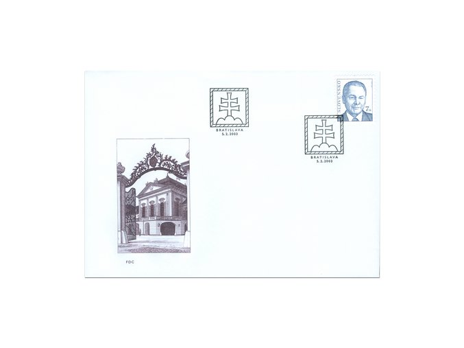 SR 2003 / 285 / Prezident SR Rudolf Schuster FDC
