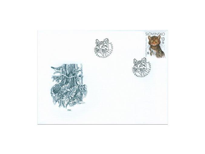 SR 2003 / 299-302 H / Ochrana prírody - Európska mačka divá / FDC (4)