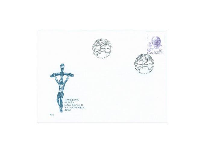 SR 2003 / 307 / Pápež Ján Pavol II. / FDC