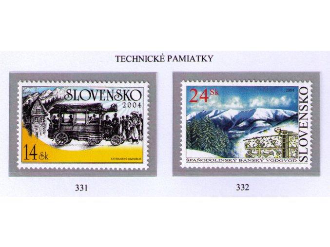 SR 2004 / 331-332 / Technické pamiatky