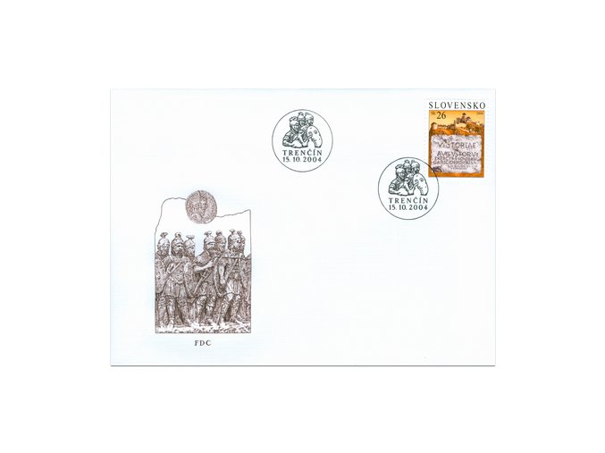 SR 2004 / 334 / Rímske légie v Trenčíne / FDC