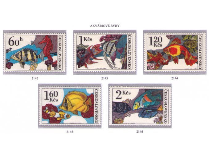 ČS 2142-2146 Akváriové ryby