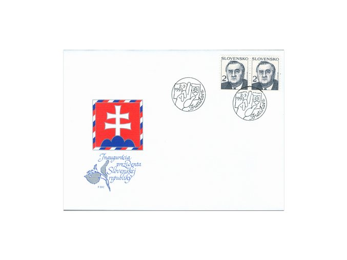 SR 1993 / 005 / Prezident SR Michal Kováč FDC