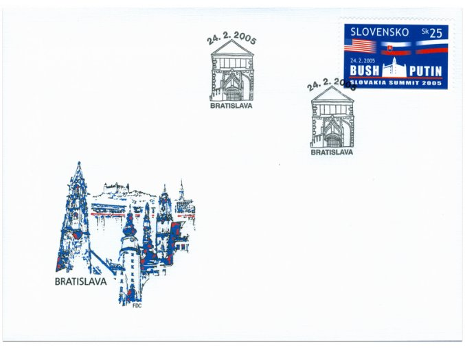 SR 2005 / 348 / Slovakia Summit / FDC