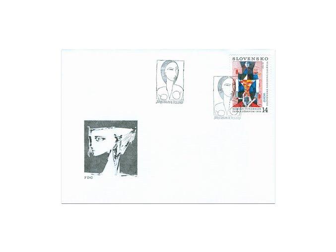 SR 1993 / 013 / EUROPA - moderné umenie FDC