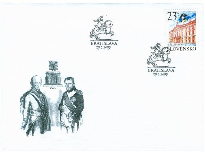 SR 2005 / 354 / Bratislavský mier / FDC