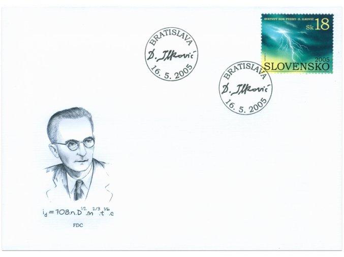 SR 2005 / 355 / Svetový rok fyziky - Dionýz Ilkovič / FDC