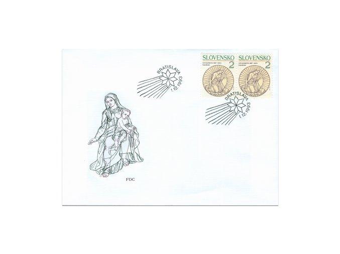 SR 1993 / 022 / Vianoce FDC