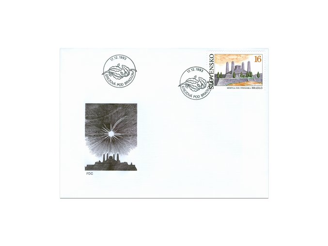 SR 1993 / 023 H / Mohyla M. R. Štefánika - Bradlo FDC