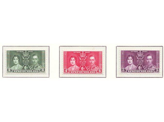 New Foundland 1937 / 0218-0220 Korunovácia Juraja VI. **