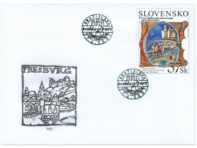 SR 2007 / 402 / Bratislavský hrad / FDC