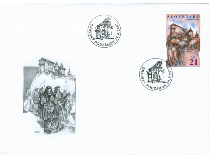 SR 2007 / 403-404 / Oravský hrad, La Rocca Guaita / FDC (2)