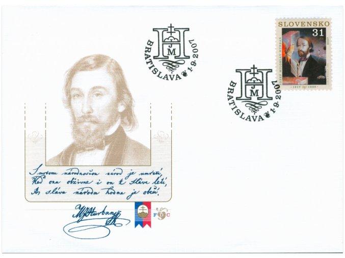 SR 2007 / 405 / Osobnosti - Jozef Miloslav Hurban / FDC