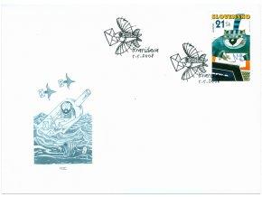 SR 422 EUROPA - Písanie listov FDC