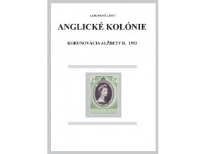 Albumové listy angl kol 1953 Korunovácia Alžbety II.