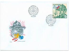 SR 1995 / 067 / Slovenský skauting FDC