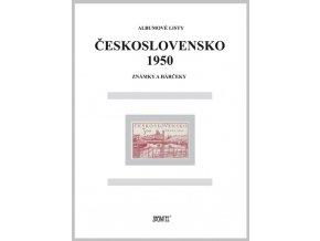 Albumové listy Československo 1950