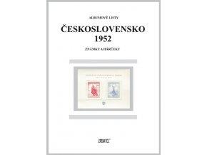Albumové listy Československo 1952
