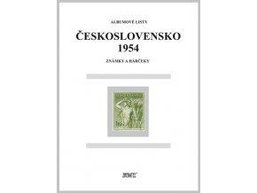 Albumové listy Československo 1954