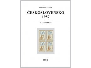 Albumové listy Československo 1957 II