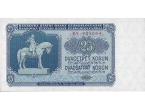25 korun KV