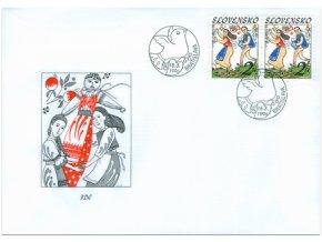 SR 1996 / 087 / Veľká noc - ľudové zvyky FDC