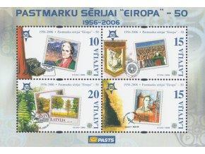 Lotyšsko 0652 0655 Bl 21